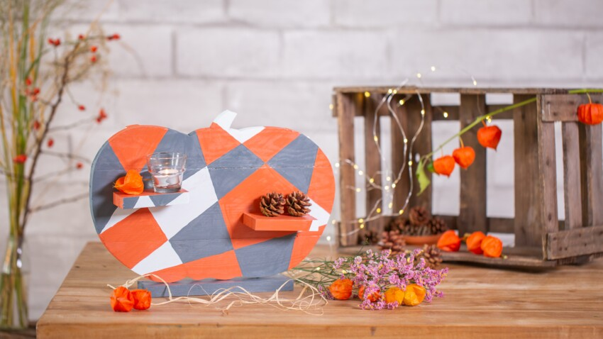 Bricolage d'Halloween : un centre de table en forme de citrouille