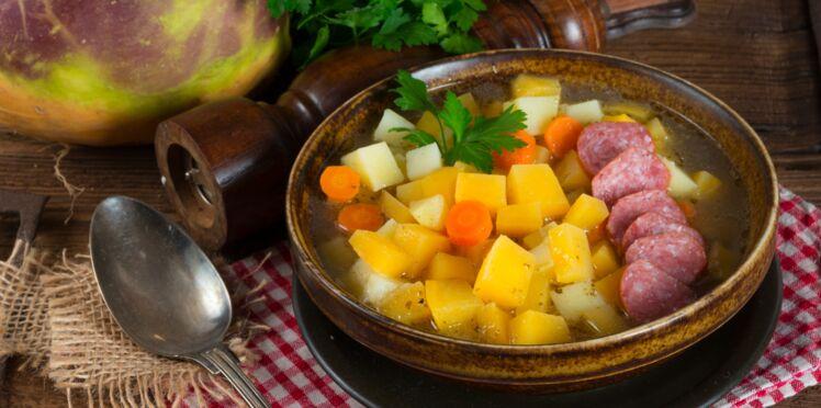 Soupe de légumes à la Morteau