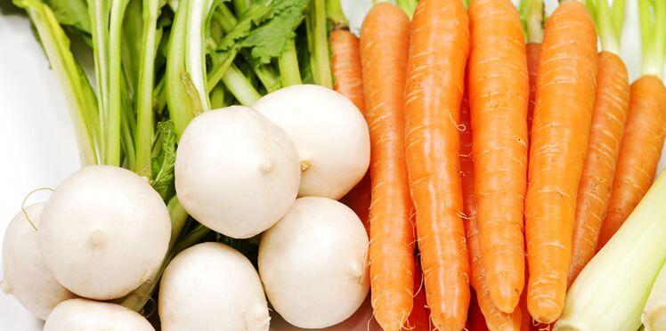 Petits légumes glacés