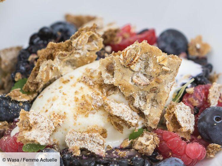 Crème au yaourt, fruits rouges et crumble de Wasa : découvrez les recettes de cuisine de Femme Actuelle Le MAG