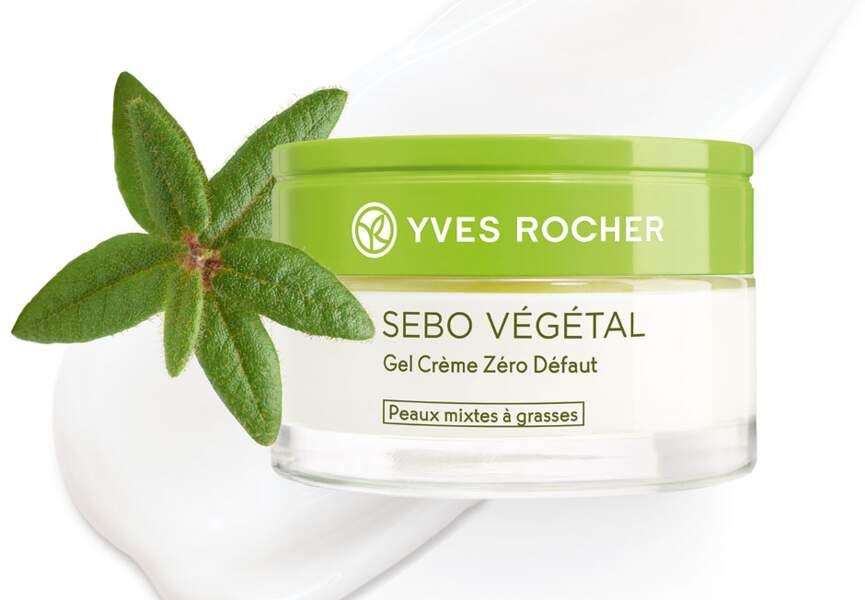 Le gel crème zéro défaut sébo végétal Yves Rocher