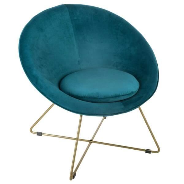 Tendance velours et or : le fauteuil Atmosphera
