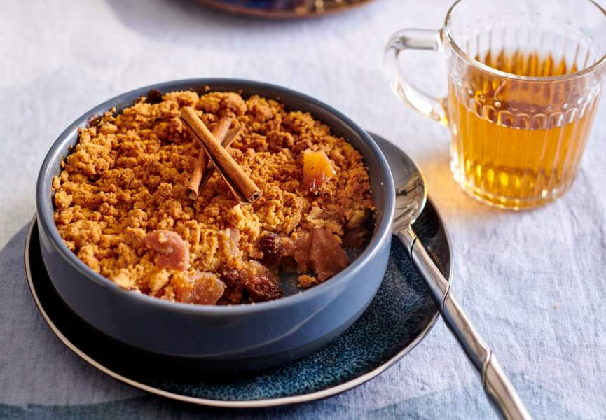 Crumble pomme-banane