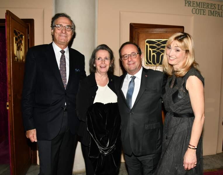 François Hollande, Julie Gayet et les parents de Julie Gayet