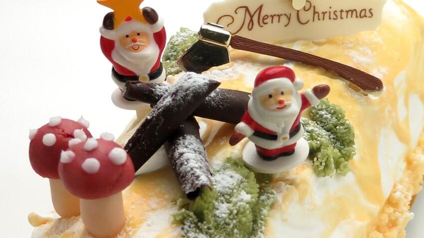 Décoration bûche de Noël comestible : nos idées gourmandes