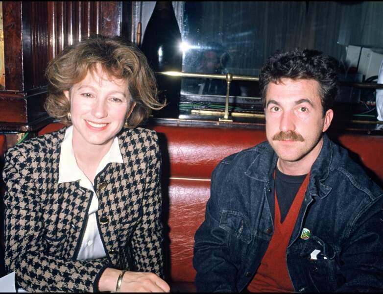 Elle pose avec François Cluzet en 1988, à l'âge de 40 ans