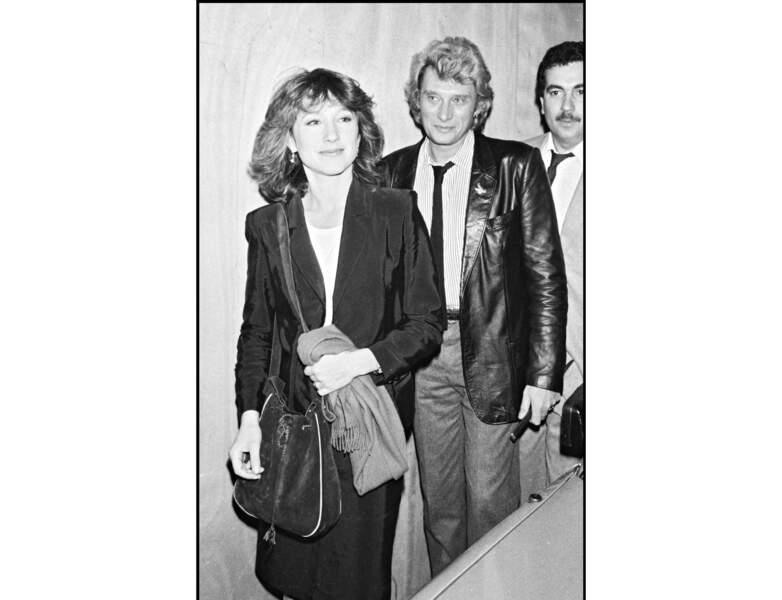 1982 : Nathalie Baye accompagnée de Johnny Hallyday