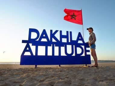 Sylvie Tellier en vacances au camp Dahkla Attitude, Maroc