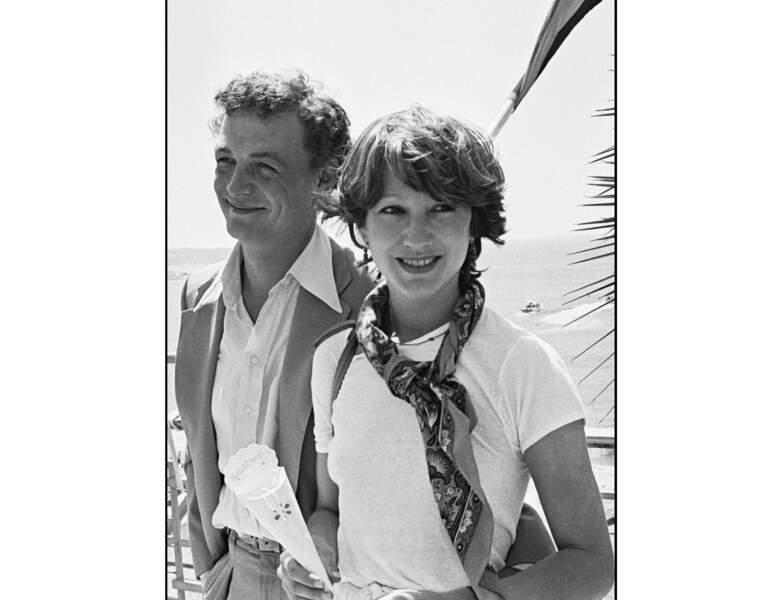 En 1977, elle est photographiée avec son compagnon de l'époque : Philippe Léotard