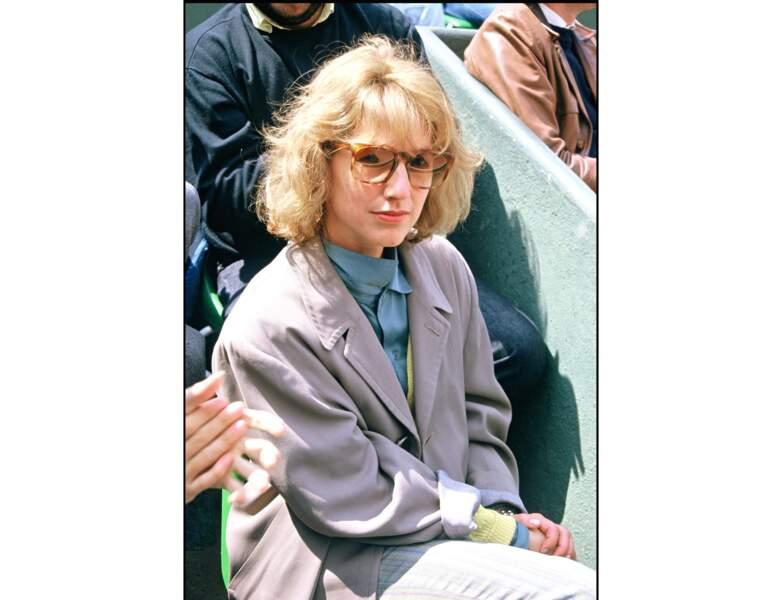 1986 : elle assiste à la finale de Roland Garros