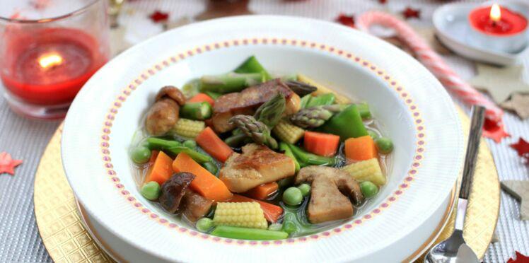 Pot-au-feu de foie gras aux légumes