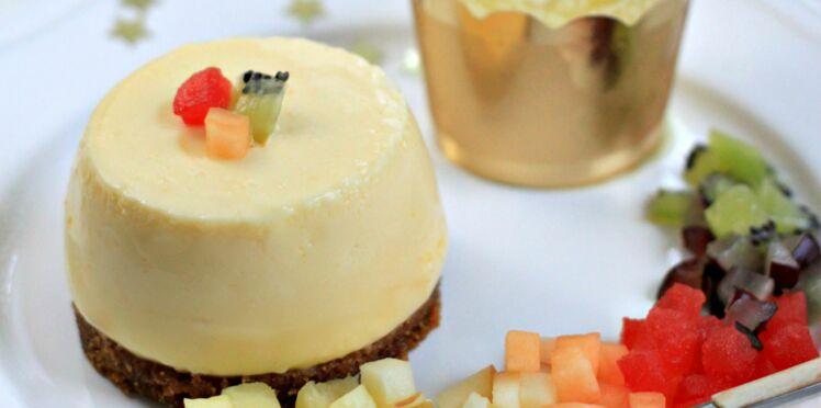 Cheesecake au spéculos et coulis d'ananas