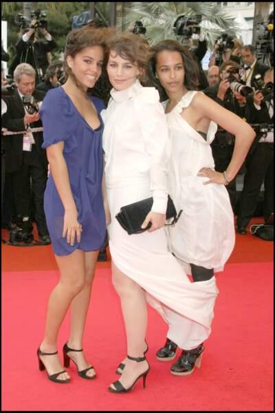 Festival de Cannes 2008 : Sophie Duez et ses filles Rose et Lucile