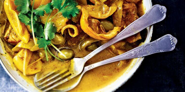 Tajine de veau aux citrons et olives vertes
