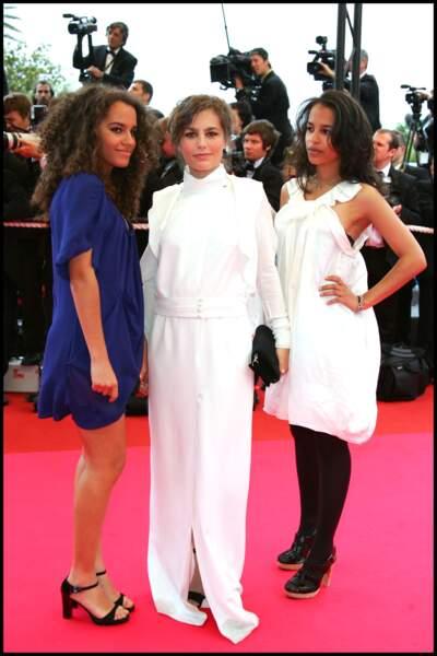 Festival de Cannes 2008 : Sophie Duez accompagnée de ses filles Rose et Lucile