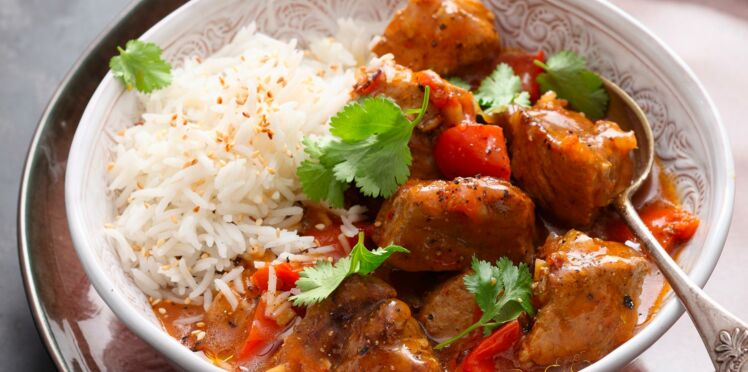 Curry indien de porc vindaloo