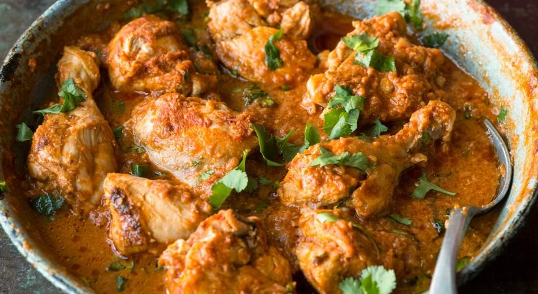 Butter chicken (curry de poulet au yaourt et aux épices)