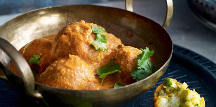 Curry Végétarien aux pommes de terre et à la brousse