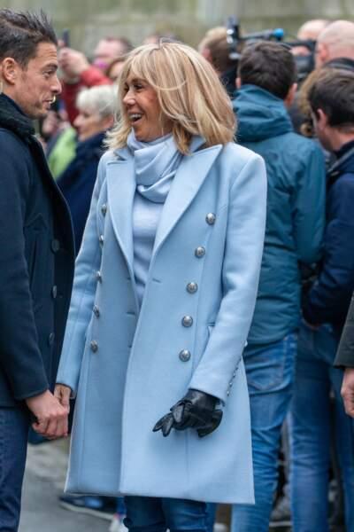 Emmanuel et Brigitte Macron à Honfleur