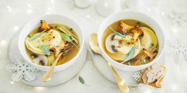 Ravioles de foie gras et bouillon thaï
