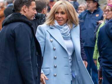 Brigitte Macron à Honfleur : son garde du corps beau gosse qui la fait beaucoup rire