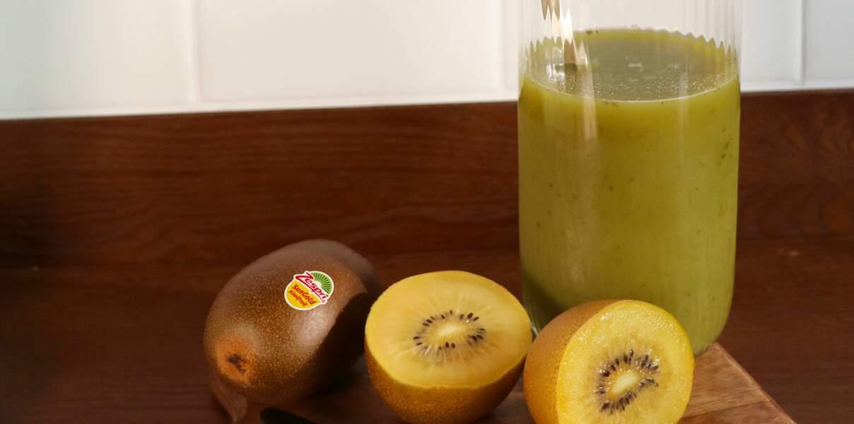 Smoothie detox au kiwi zespri sungold