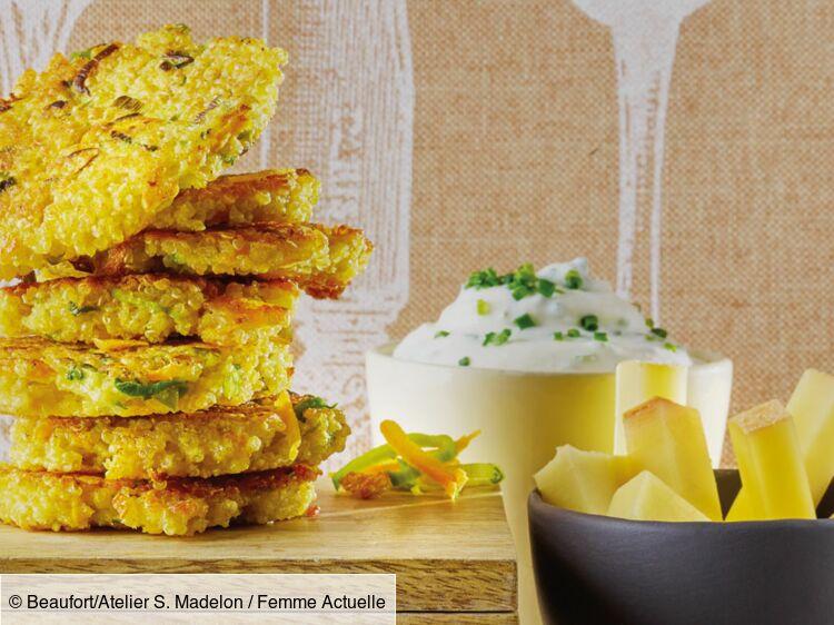 Galettes de quinoa et légumes au beaufort : découvrez les recettes de cuisine de Femme Actuelle Le MAG