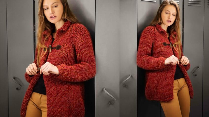 Tricot gratuit : la veste raglan au point jersey