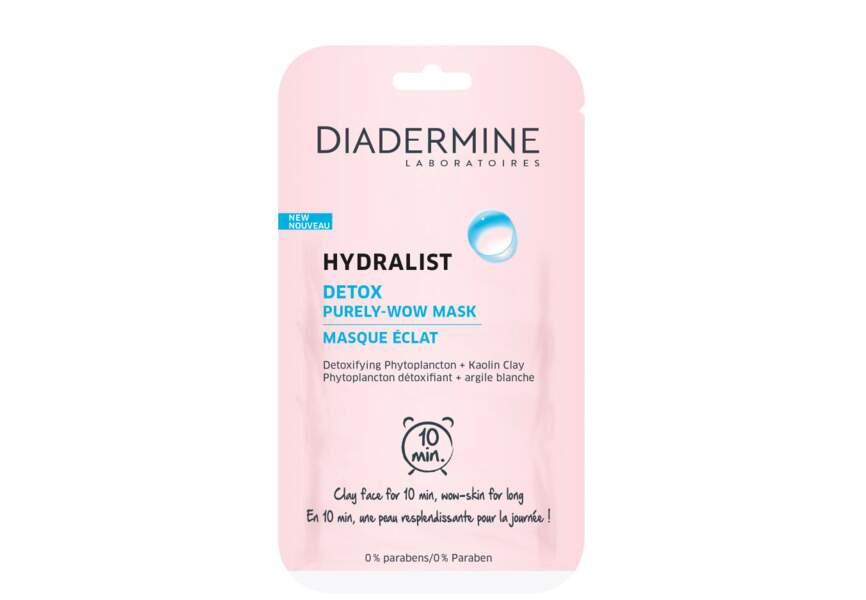 le masque Hydralist Diadermine