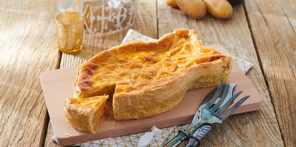 Tourte aux Pompadour Label Rouge, tomates et thon