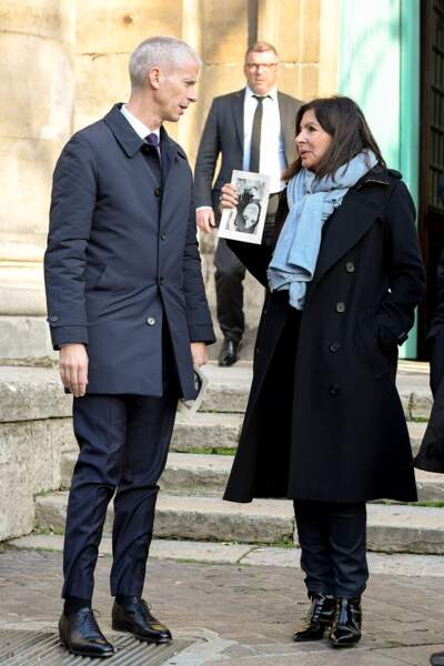 ... le ministre de la Culture Franck Riester et la maire de Paris Anne Hidalgo...