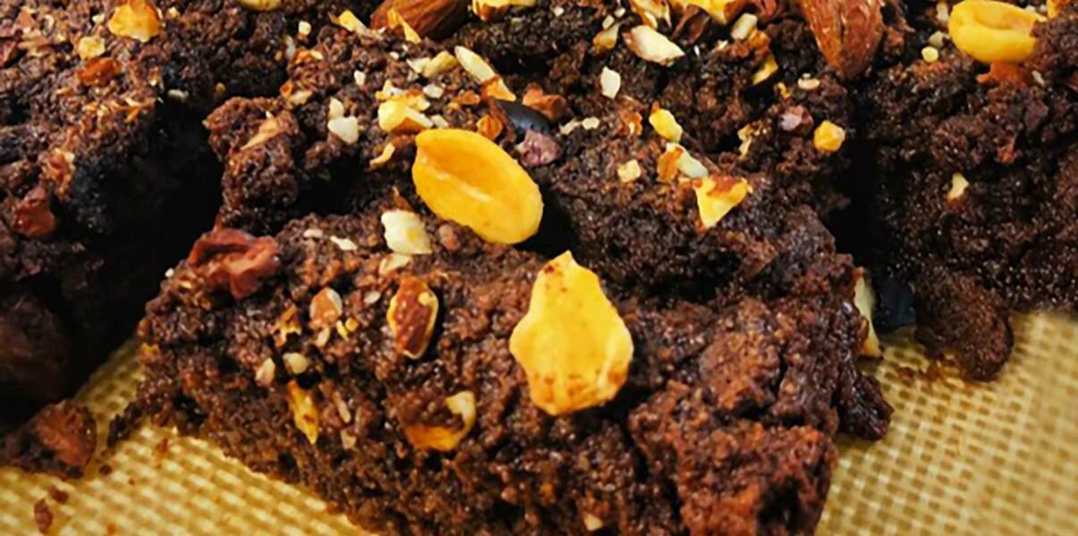 Fondant chocolat,coco-courgette, vegan, sans gluten