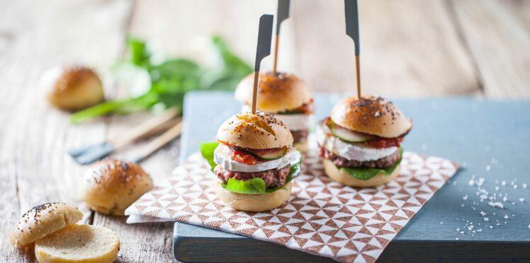 Mini burgers au chèvre