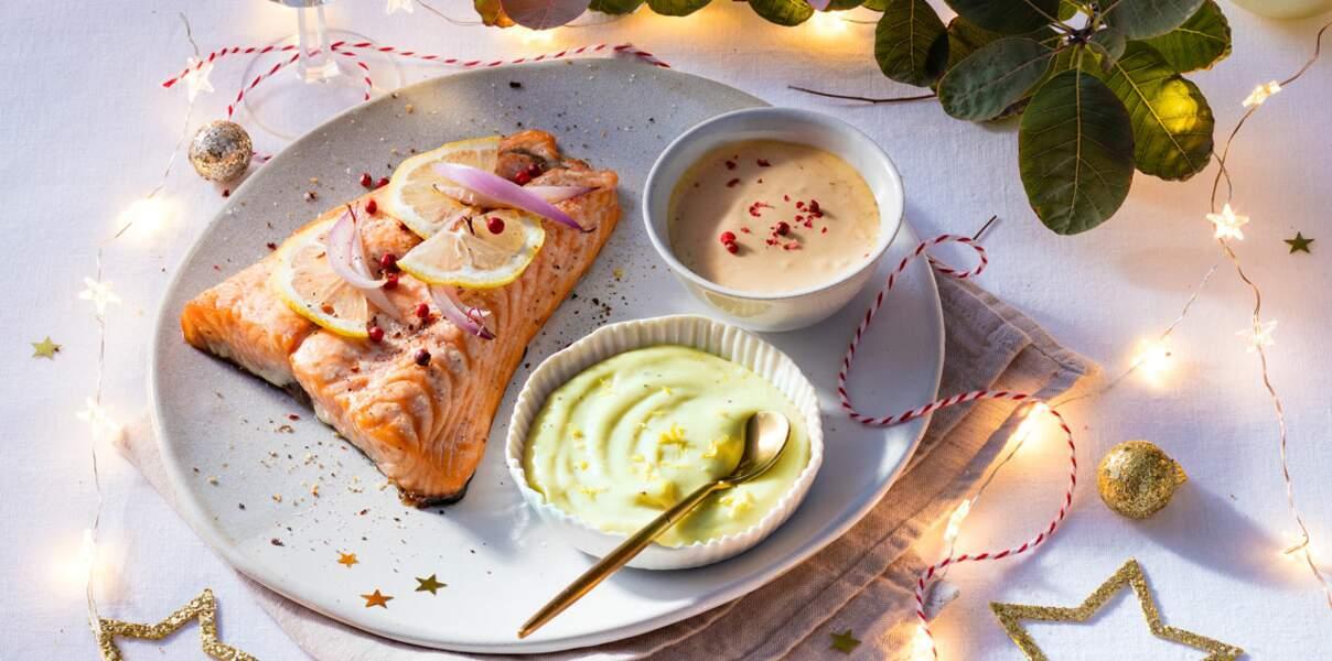 Saumon à la parisienne et mayonnaises revisitées