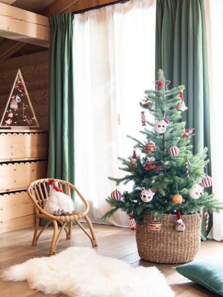 Une déco de sapin de Noël enfantine