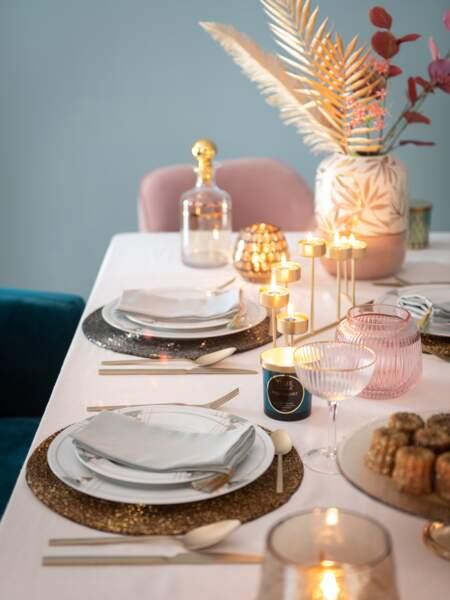 Une table de fêtes esprit Art Déco