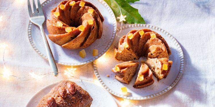 Mini pains d'épice aux oranges confites et noix de macadamia