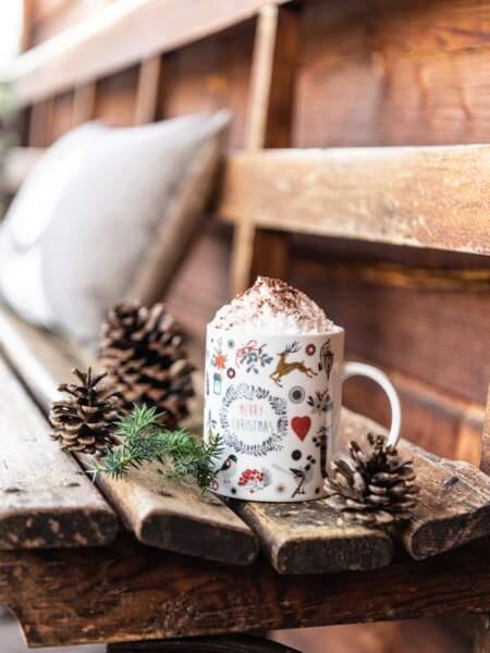 Mug en porcelaine imprimé animaux