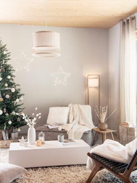 Une déco de salon nature pour Noël