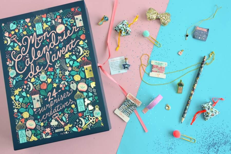 """Le calendrier de l'avent """"surprises créatives"""" - Auzou Créatif"""