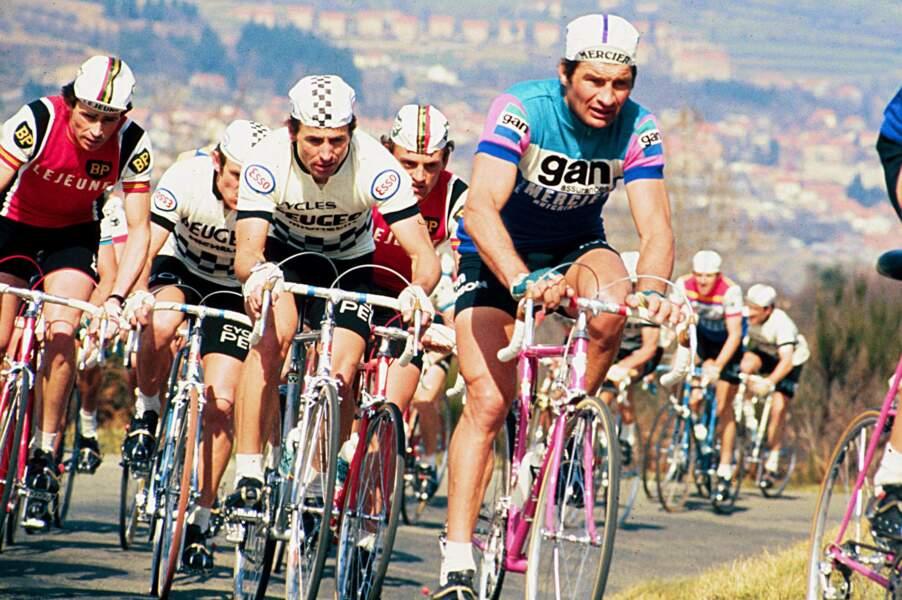 Raymond Poulidor lors du Tour de France en 1974.