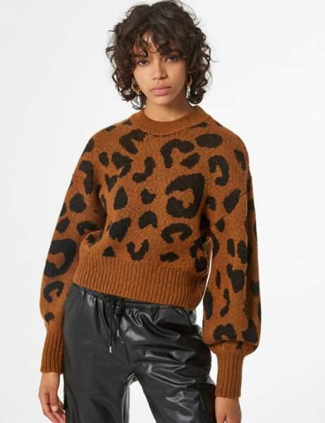 Le pull léopard