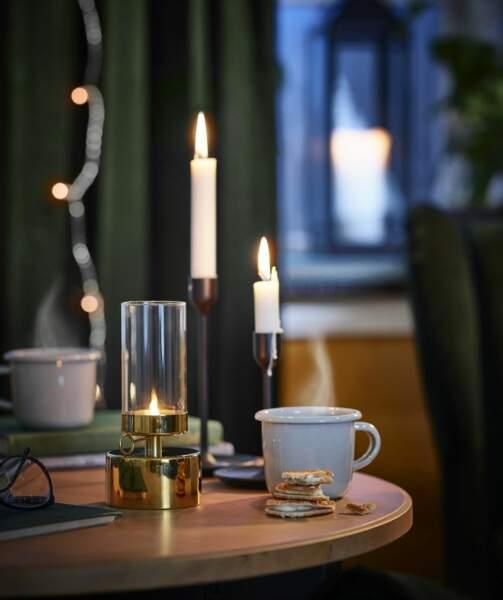 Lanterne pour bougie chauffe-plat