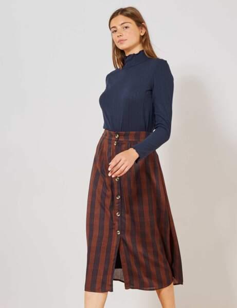 La jupe à carreaux