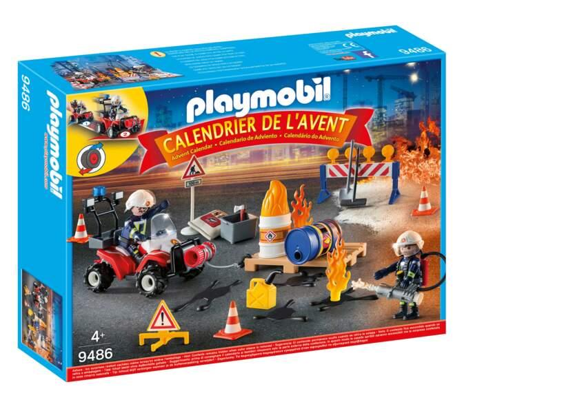 Les pompiers et l'incendie de chantier - Playmobil