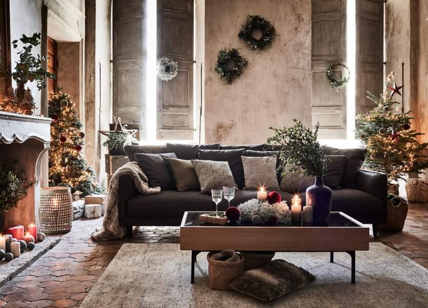 Une déco de salon traditionnelle pour les fêtes