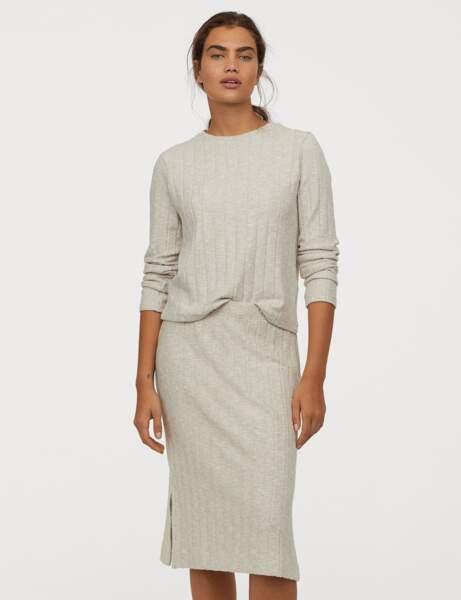 La jupe côtelée