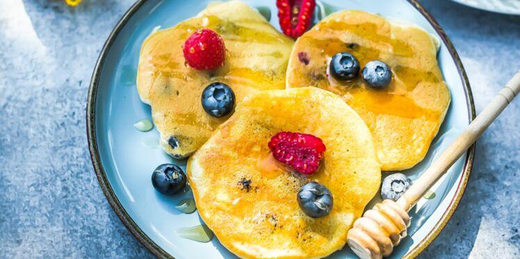Pancakes aux myrtilles à l'huile d'olive de Nice AOP