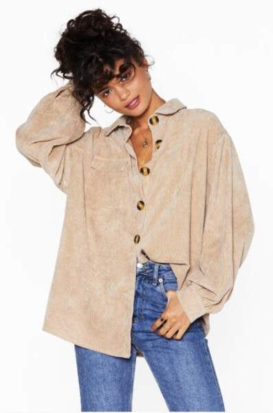 Tendance chemise : le velours