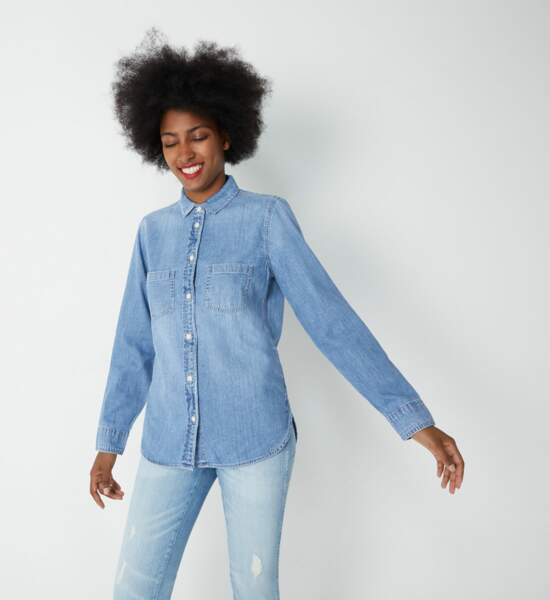 Tendance chemise : le denim